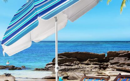 Best Cheap Beach Umbrellas – With Poles To Withstand Winds